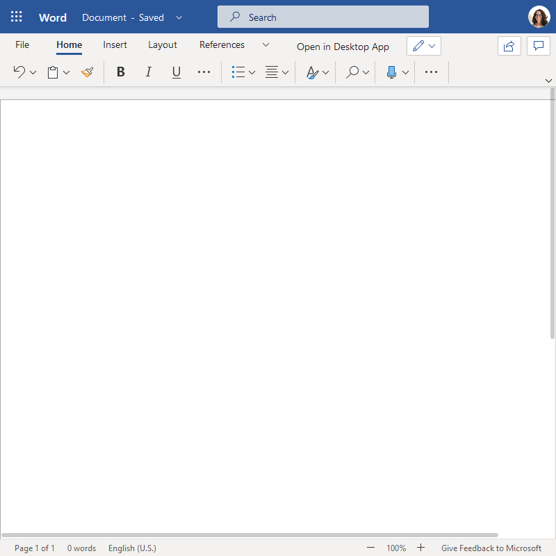 Office 365 Word document