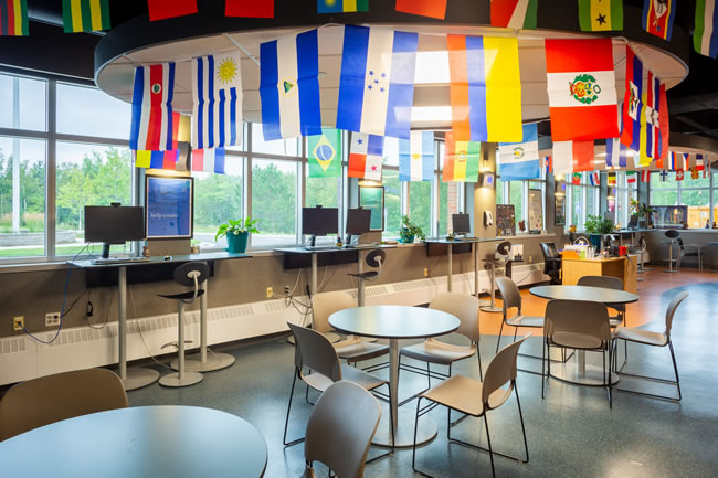 Photo of the interior of the Center for Equity and Inclusion